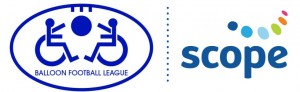 Balloon Football League and Scope logo