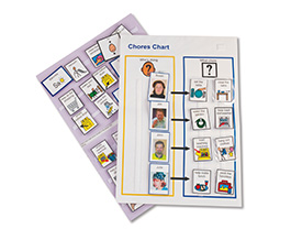 Photo of a chores chart