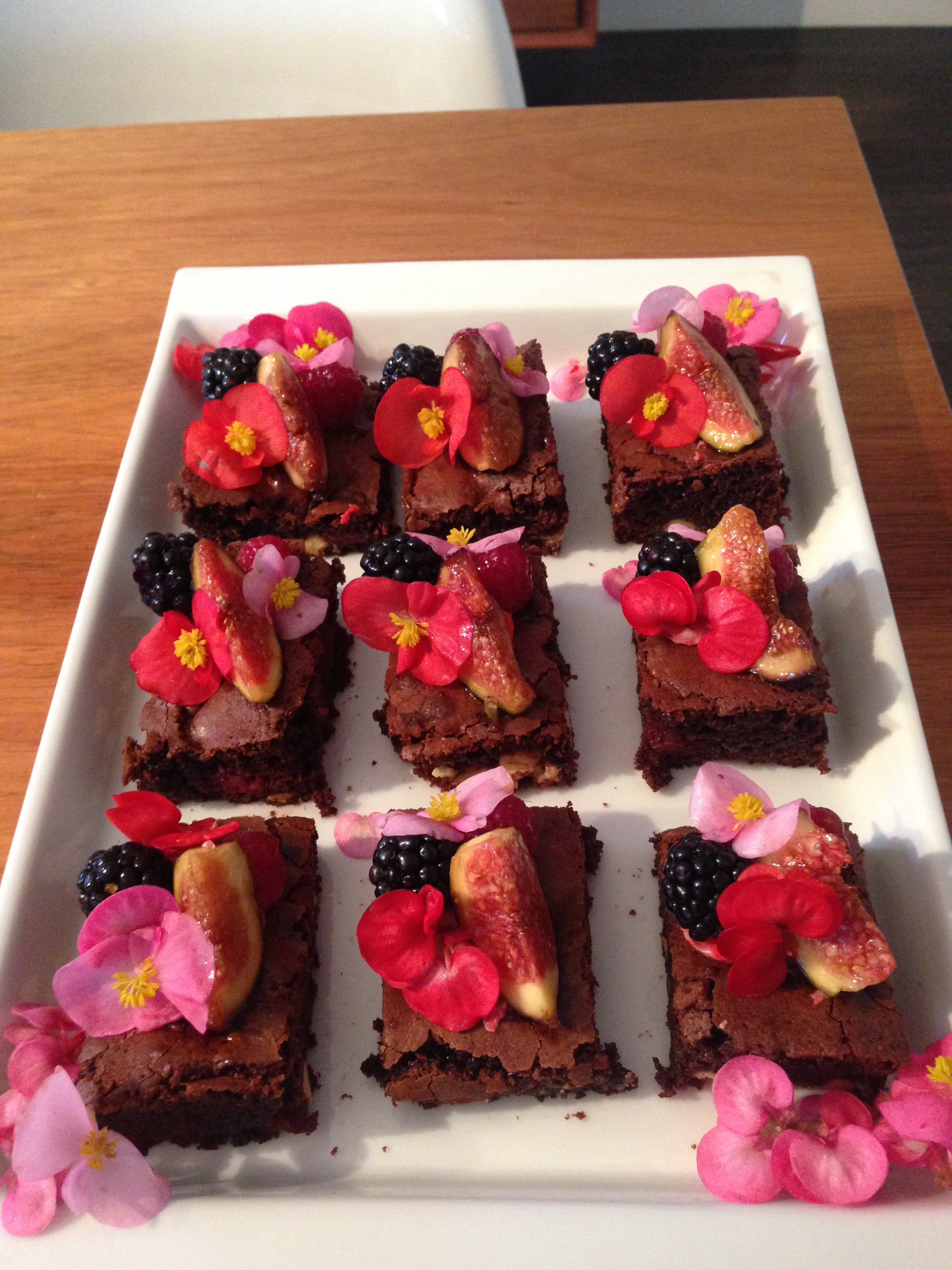 These blackberry and fig brownies went down a treat last year!