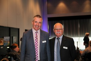 """Staff, """"Do It Right"""" winner Andy Davies & Neil Farr, General Manager, People and Culture (Scope)."""