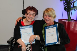 Carmen De Bono and Denise West, recipients of 30 Years of Service Awards
