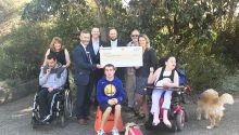 Commonwealth Bank, Chelsea and Mordialloc, handing over a cheque of $20,000 to Scope Australia's fundraising team